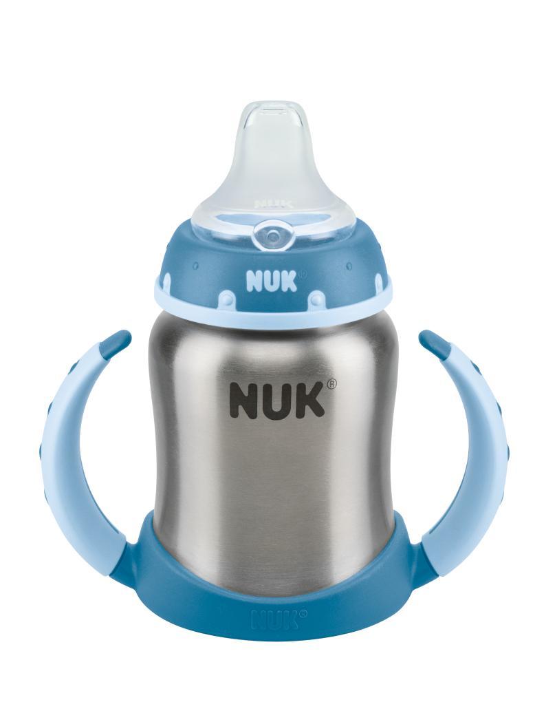 NUK FC fľaška na učenie nerez 125ml, SI náustok nekvapkajúci