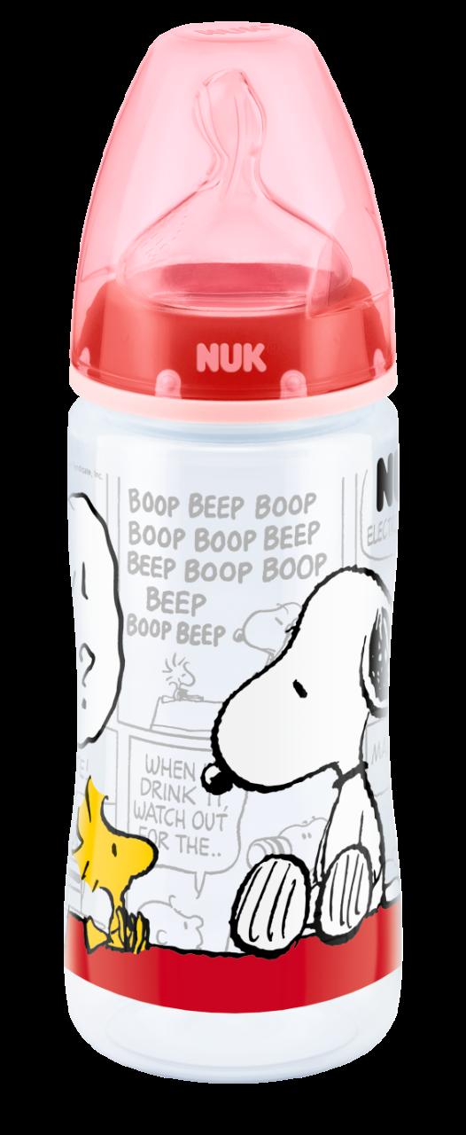 Snoopy fľaša First Choice+ PP (6-18 měsíců) silikon