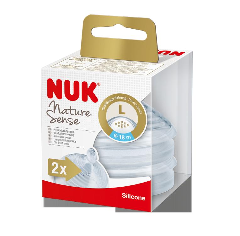 NUK Nature Sense savička V2, L, 2ks
