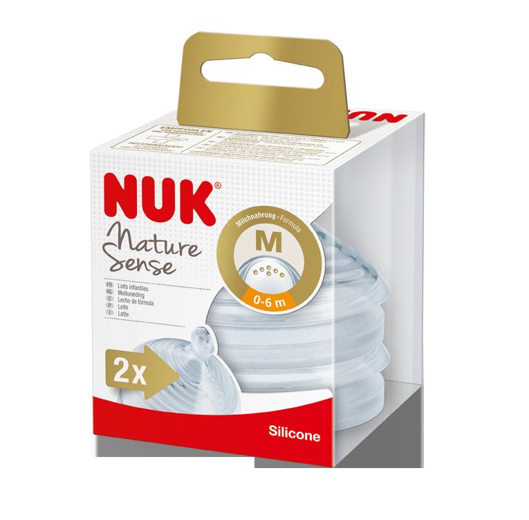 NUK Nature Sense savička V1, M, 2ks